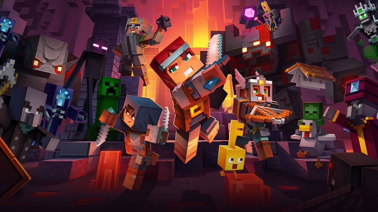Minecraft Dungeons header